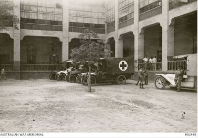 14th General courtyard & ambulances.jpg